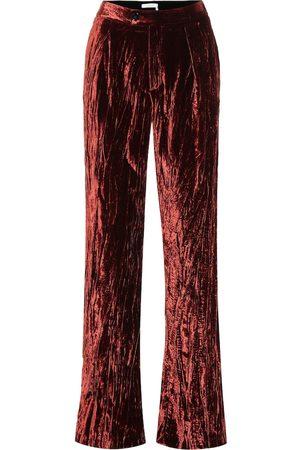 Chloé High-rise wide-leg velvet pants