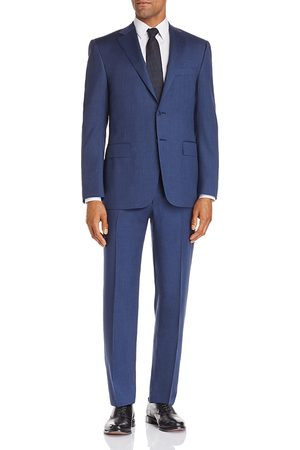 CANALI Siena Twill Solid Regular Fit Wool Suit