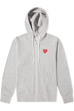 Comme des Garçons Comme des Garcons Play Women's Red Heart Full Zip Backprint Hoody