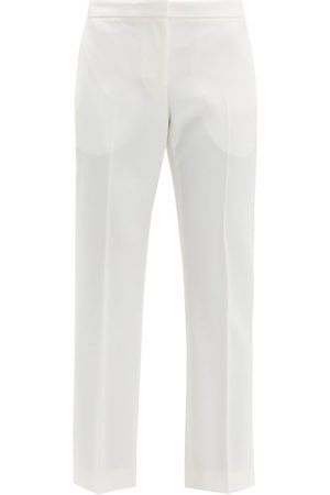 Alexander McQueen Tailored Virgin Wool-twill Trousers - Womens - Ivory