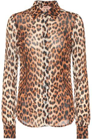 Nº21 Leopard-printed shirt