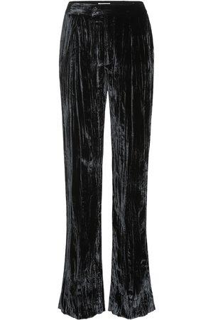 Chloé Pleated velvet pants