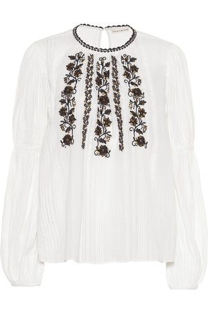 ULLA JOHNSON Vida embroidered cotton blouse