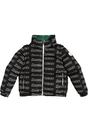 Moncler Boys Jackets - Neal All Over Logo Nylon Down Jacket