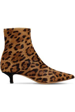 Le Monde Beryl 40mm Print Ponyskin Ankle Boots
