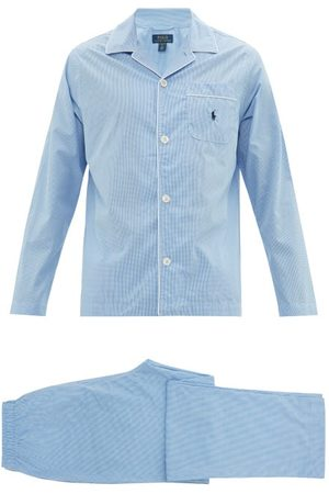Polo Ralph Lauren Men Pajamas - Logo-embroidered Gingham Cotton Pyjamas - Mens