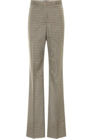 Rochas Checked high-rise stretch-wool pants