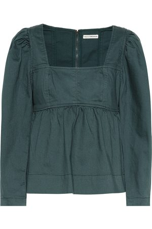 ULLA JOHNSON Malie denim blouse