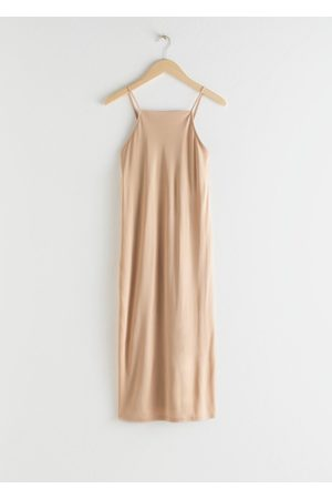 & OTHER STORIES Square Neck Midi Slip Dress