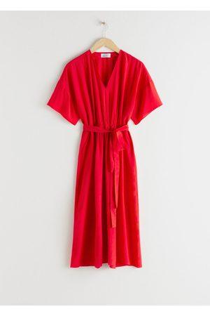 & OTHER STORIES Women Midi Dresses - Belted Lyocell Blend Midi Dress
