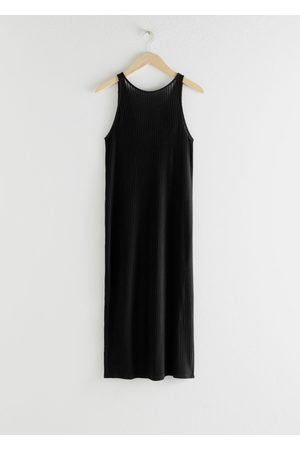 & OTHER STORIES Ribbed Double Side Slit Midi Dress