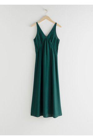 & OTHER STORIES Flowy V-Neck Midi Dress
