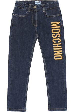 Moschino Embroidered straight jeans