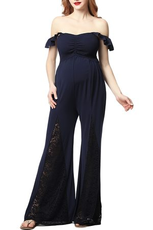Kimi and Kai Women's Mel Lace Inset Maternity Jumpsuit