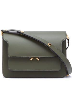 Marni Trunk Medium Leather Shoulder Bag - Womens - Dark