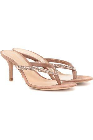 Gianvito Rossi Diva embellished suede sandals