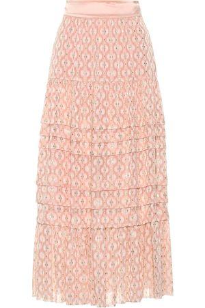 TEMPERLEY LONDON Suki silk blend midi skirt