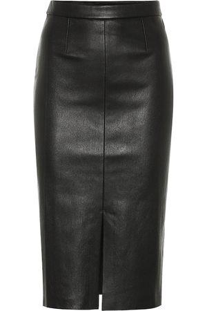 Stouls Carmen leather midi skirt