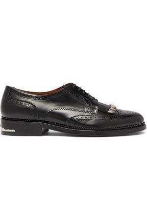 TOGA VIRILIS Polido Fringed Leather Derby Shoes - Mens
