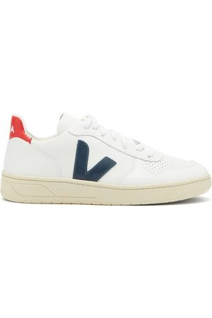 Veja V 10 Low Top Leather Trainers - Womens - Multi