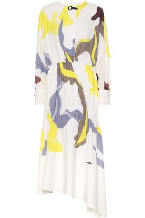 tibi Asymmetric printed dress