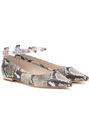 SOPHIA WEBSTER Dina embossed leather ballet flats
