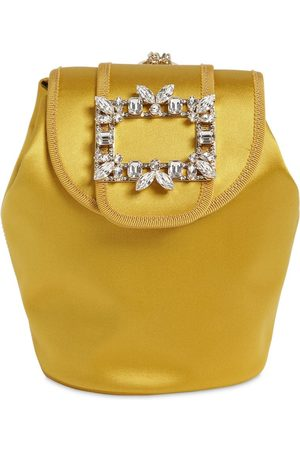 Roger Vivier Rv Broche Mini Satin Backpack