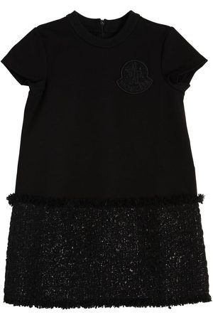 Moncler Girls Sweatshirts - Wool Blend Sweatshirt & Bouclé Dress