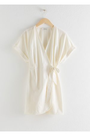 & OTHER STORIES Organic Cotton Wrap Mini Dress