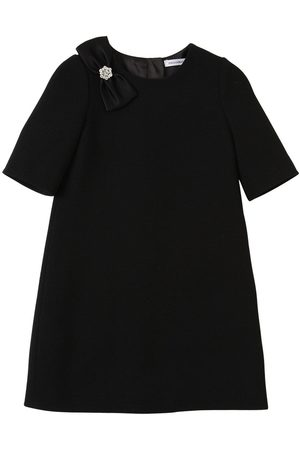 Dolce & Gabbana Wool Dress W/ Satin Bow