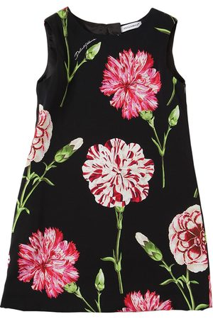 Dolce & Gabbana Floral Print Silk Blend Charmeuse Dress