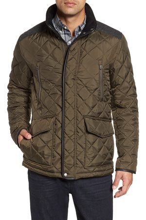 Cole Haan Men Coats - Men's Herringbone Yoke Quilted Jacket