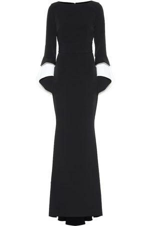 Safiyaa Akeno crêpe gown