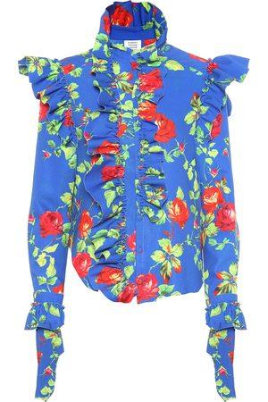 Vetements Floral crêpe shirt