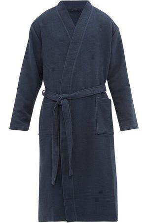 Schiesser Belted Cotton Waffle-piqué Robe - Mens