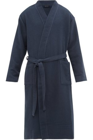 Schiesser Men Bathrobes - Belted Cotton Waffle-piqué Robe - Mens