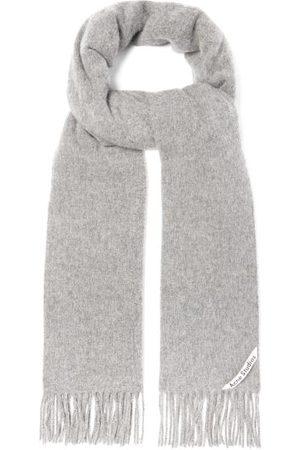 Acne Canada Wool Scarf - Mens - Light Grey