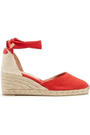 Castaner Women Sandals - Carina 60 Canvas And Jute Espadrille Wedges - Womens