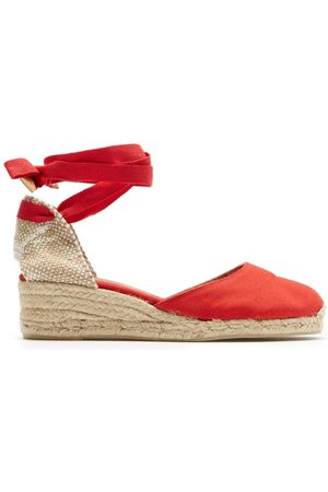 Castaner Women Sandals - Carina 30 Canvas And Jute Espadrille Wedges - Womens