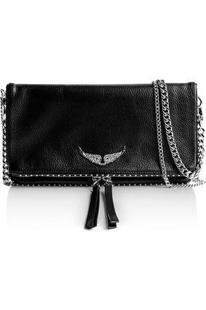 Zadig & Voltaire Women Purses - Rock Studded Leather Shoulder Bag