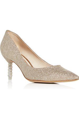 SOPHIA WEBSTER Women's Coco Glitter Mid-Heel Pumps