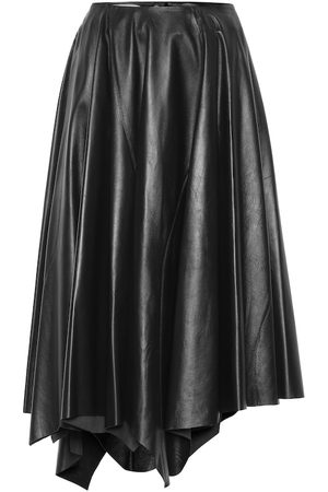 Marni Leather midi skirt
