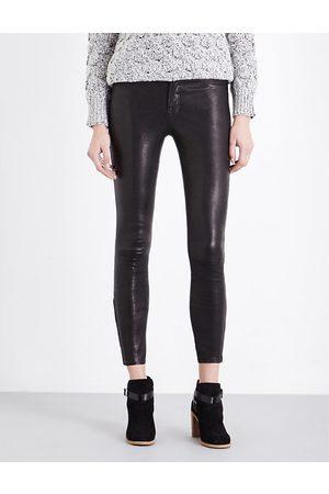 J Brand L8001 super-skinny mid-rise leather leggings