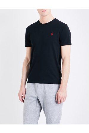 Polo Ralph Lauren Logo-embroidered custom slim-fit cotton-jersey T-shirt