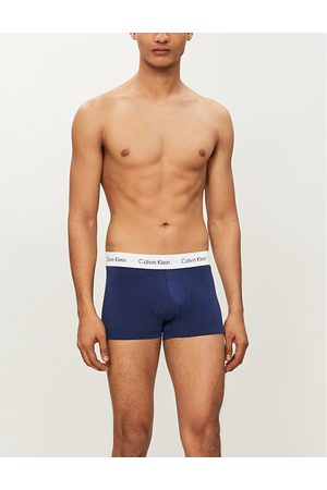 Calvin Klein Pack of three low-rise stretch-cotton trunks