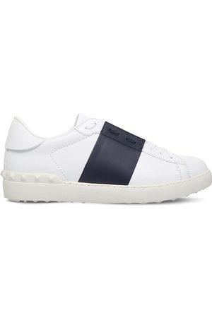 VALENTINO GARAVANI Open contrast-stripe leather trainers, Mens, Size: EUR 40 / 6 UK MEN, /navy