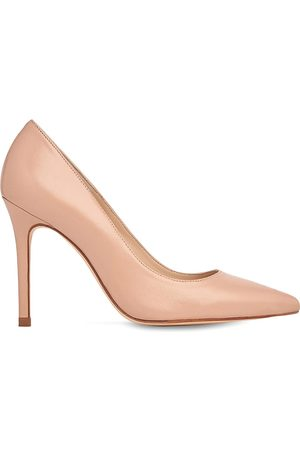 LK Bennett Fern pointed toe leather courts