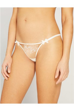 Agent Provocateur Lindie mid-rise embroidered floral mesh thong