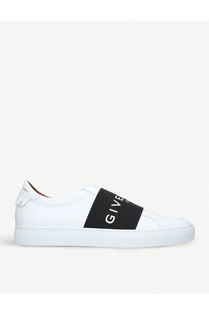 Givenchy Mens and Knot Elastic Leather Sneakers