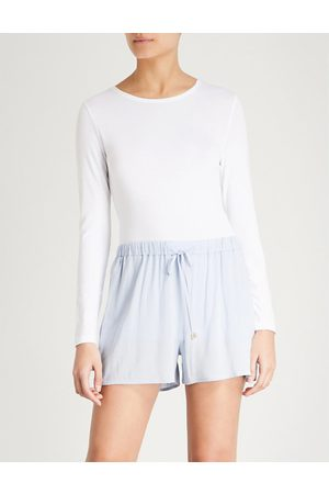 Hanro Soft Touch long-sleeved stretch-jersey top